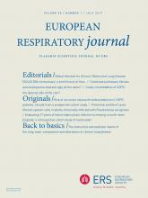 European Respiratory Journal: 50 (1)