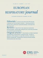 European Respiratory Journal: 54 (1)